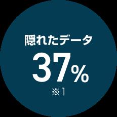隠れたデータ37% ※1
