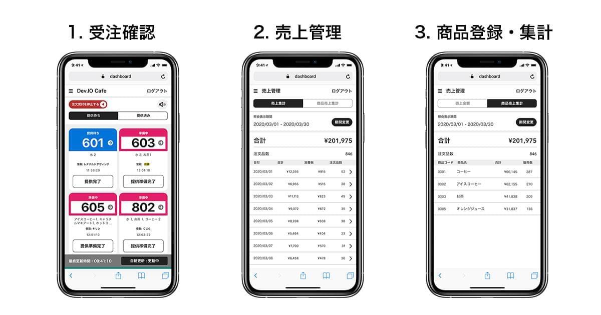 店舗用CX ORDER画面