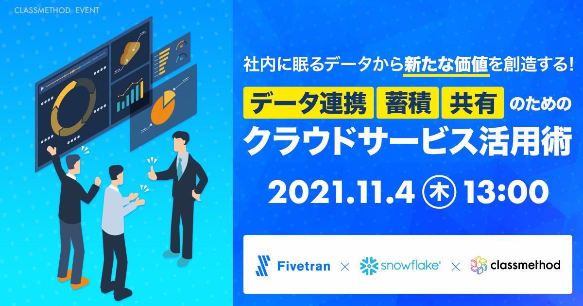 【ウェビナー】データ連携、蓄積、共有のためのクラウドサービス活用術